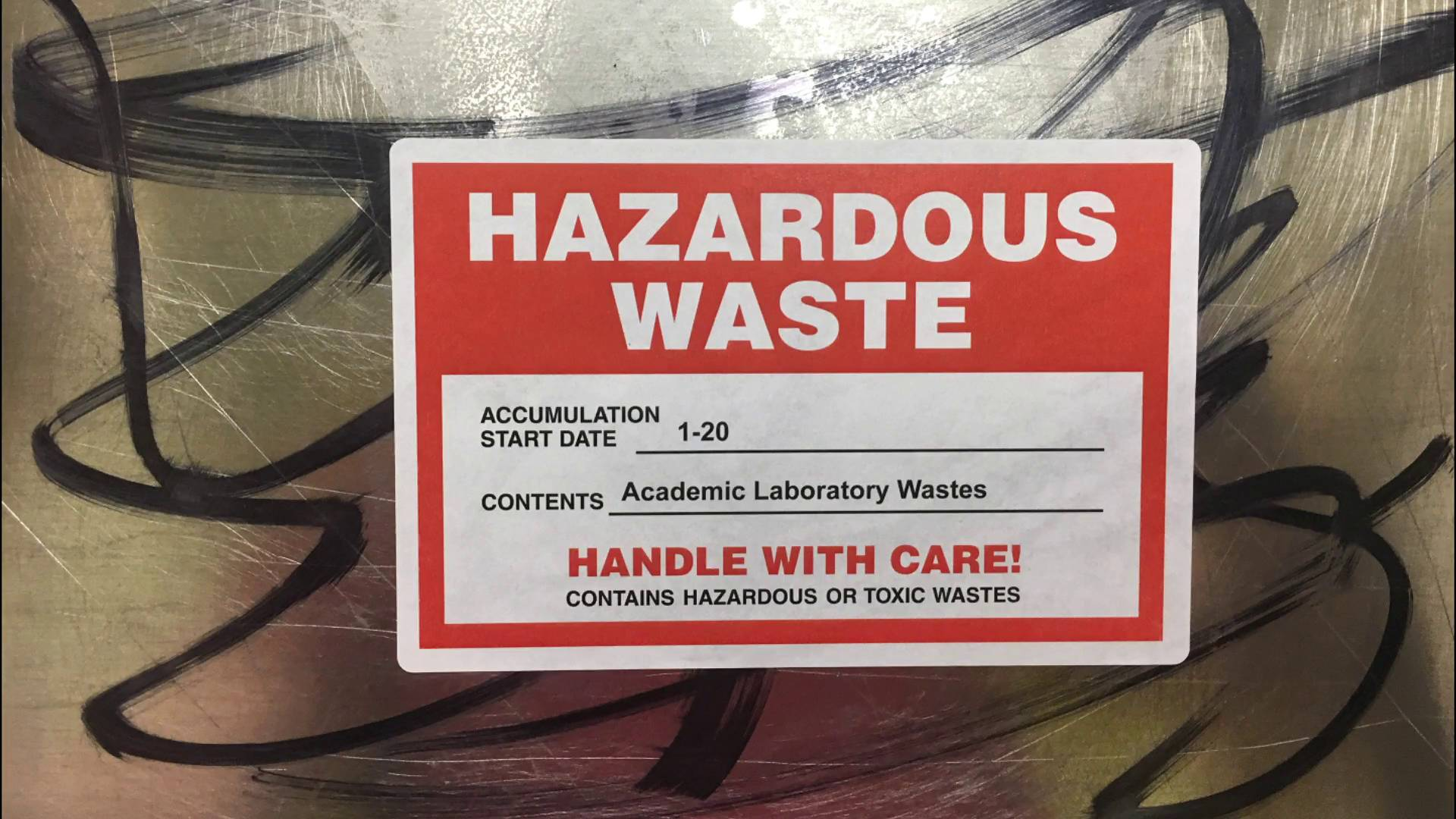 photograph relating to Free Printable Hazardous Waste Labels named Customized Destructive Squander Labels