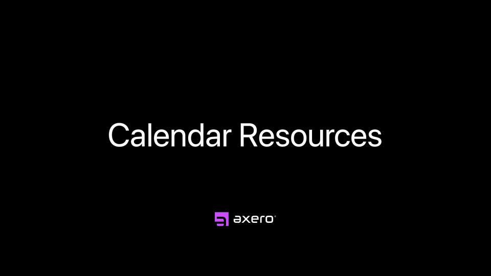 Calendar Resources