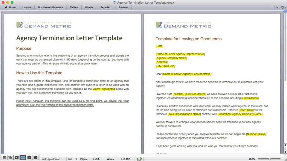 Agency Termination Letter Template – Termination Template