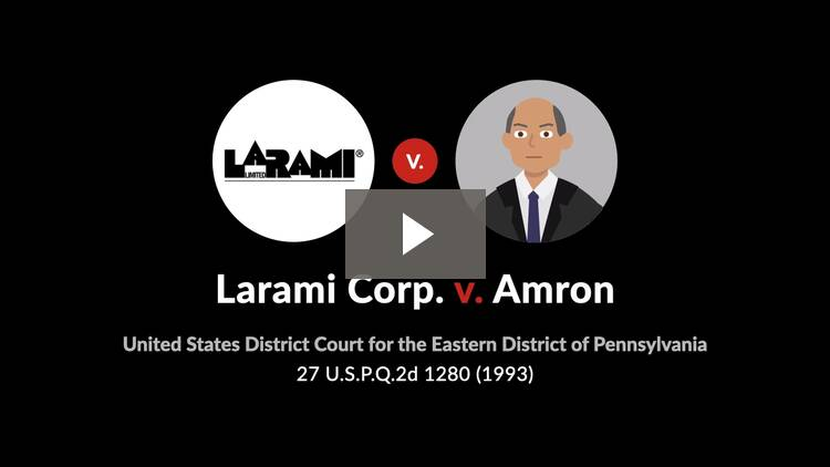 Larami Corp. v. Amron