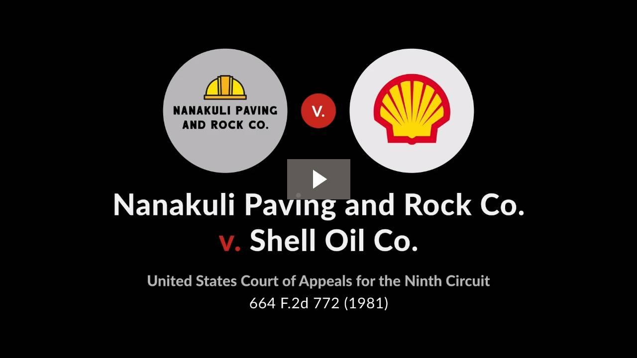Nanakuli Paving & Rock Co. v. Shell Oil Co.