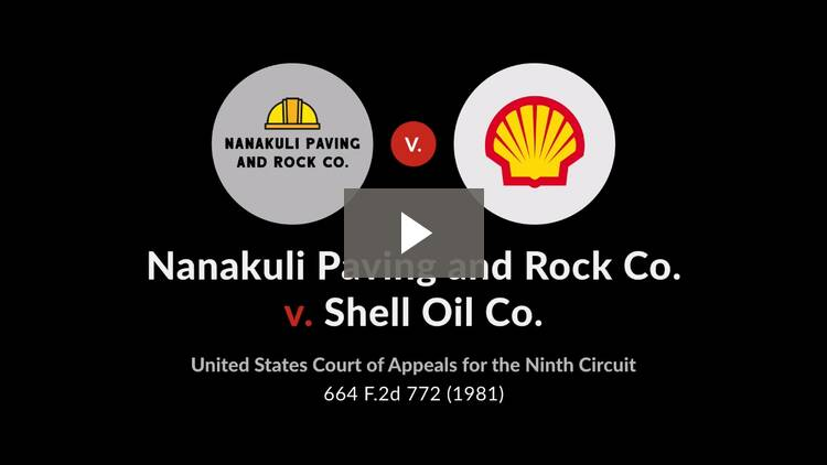Nanakuli Paving & Rock Co. v. Shell Oil Co.