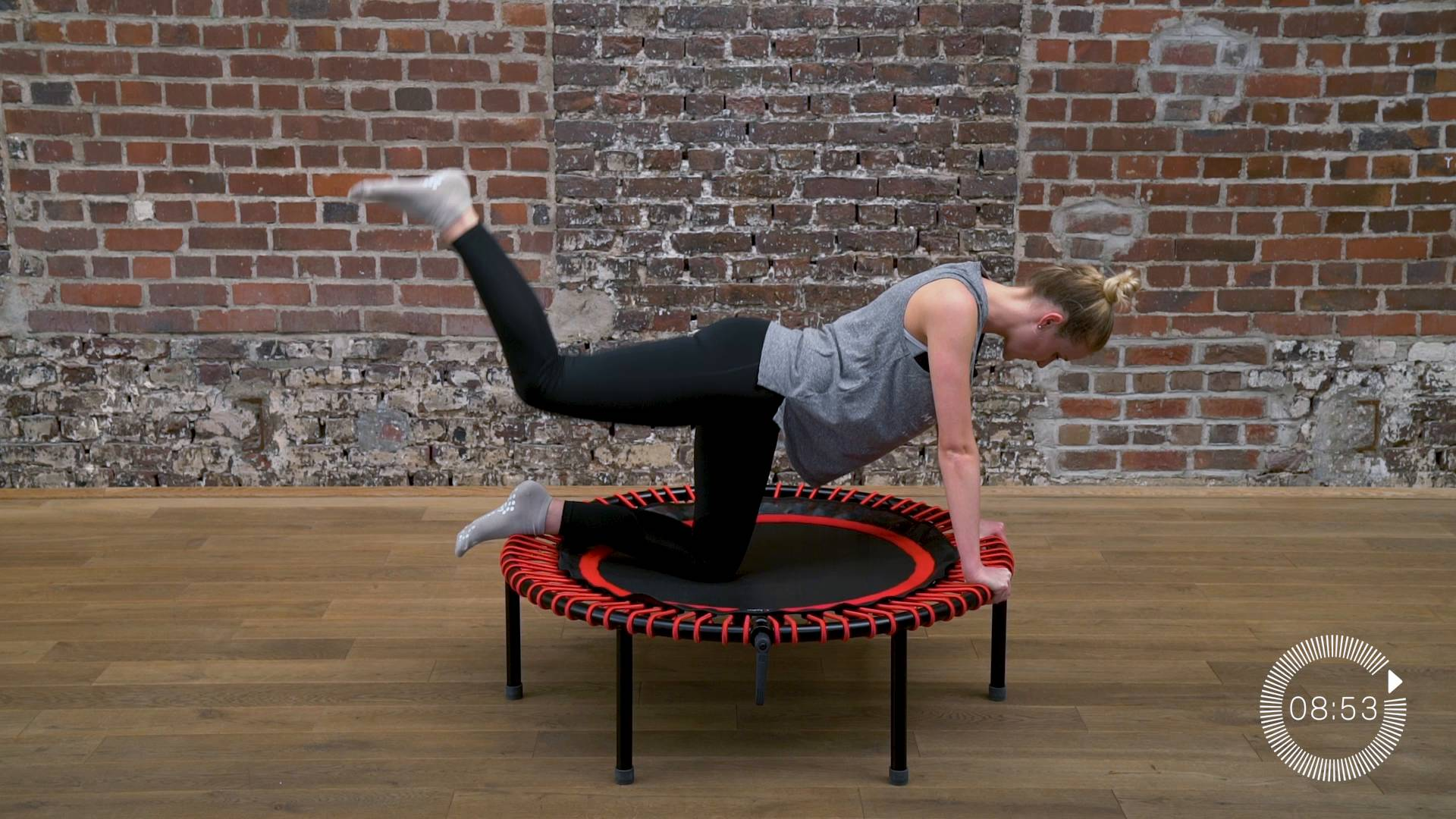 flacher bauch straffe beine fester po mini trampolin training video bellicon home. Black Bedroom Furniture Sets. Home Design Ideas