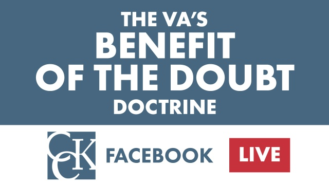 VA's Benefit of the Doubt Doctrine Explained