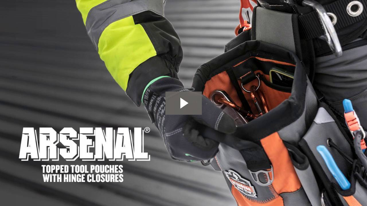 Ergodyne Product Video - Arsenal<sup>®</sup> 5517 Topped Tool Pouch with Snap-Hinge Zipper Closure