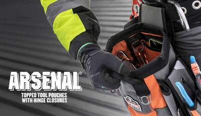 Snap Hinge Tool Pouches Allow One-Handed Operation for Easy Access to Tools & Small Parts