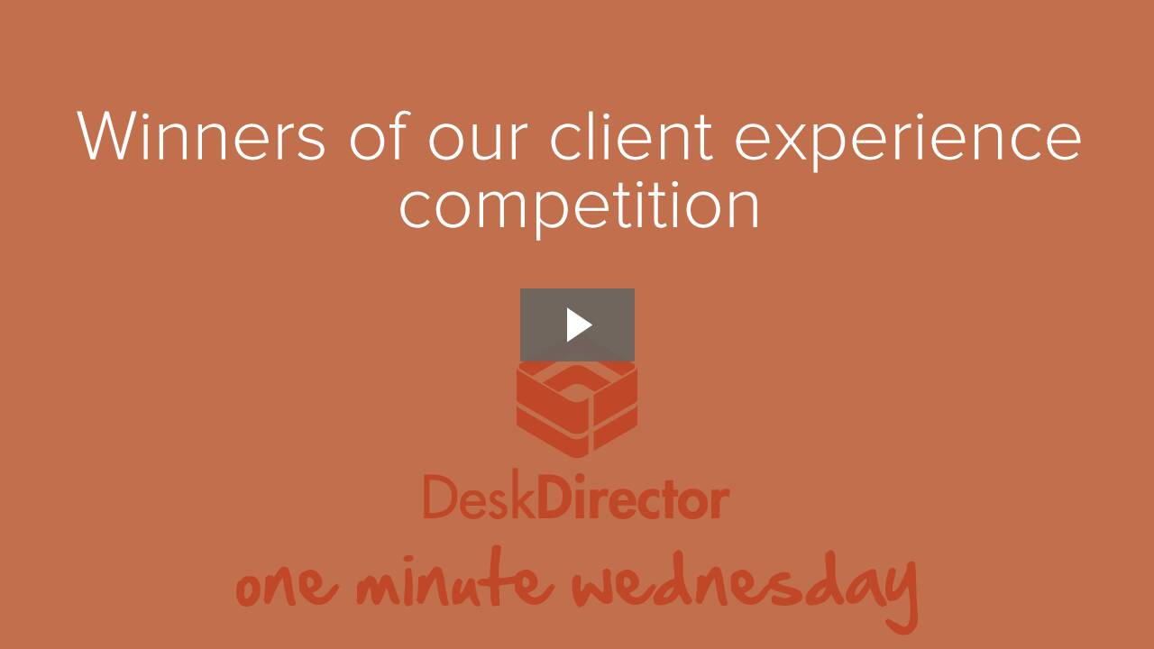 Client Experience Competition Winners
