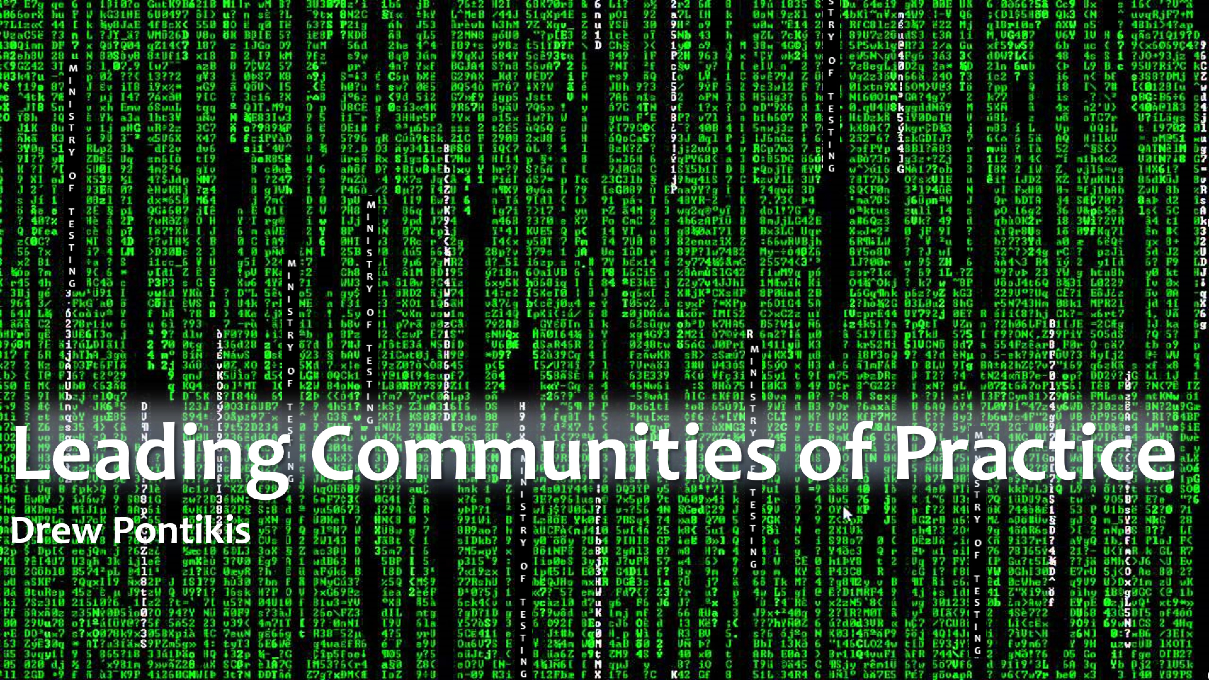 The MoTrix - Leading Communities of Practice with Drew Pontikis