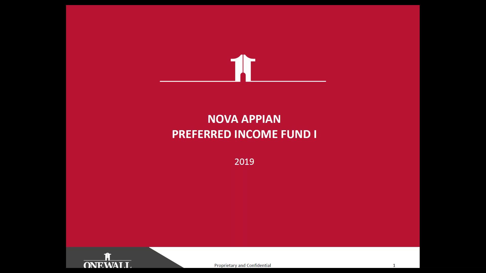 Investment Video - Nova Appian Preferred Income Fund I
