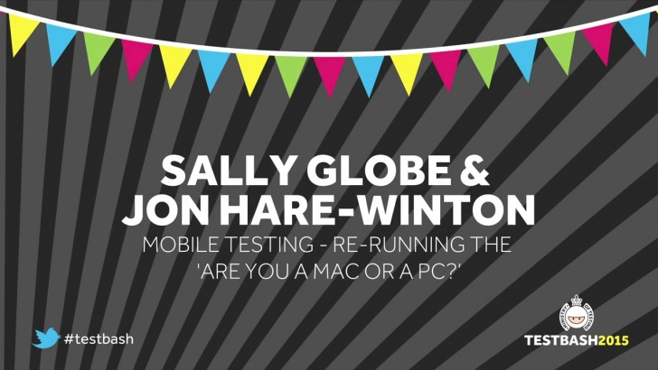 Re-running the 'Are you a Mac or a PC? battle … for iOS and Android – Sally Goble & Jon Hare-Winton