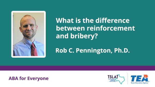 What is the difference between reinforcement and bribery?