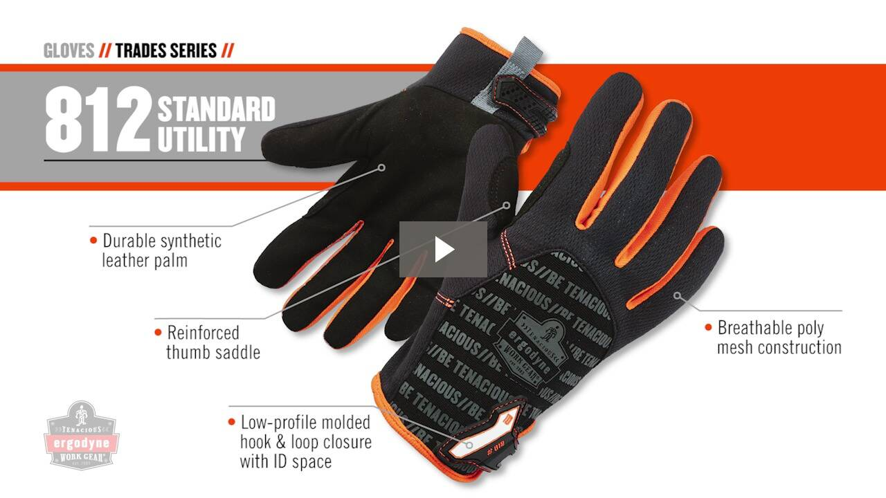 Ergodyne Product Video - ProFlex<sup>®</sup> 812CR Utility + Cut Resistance Gloves