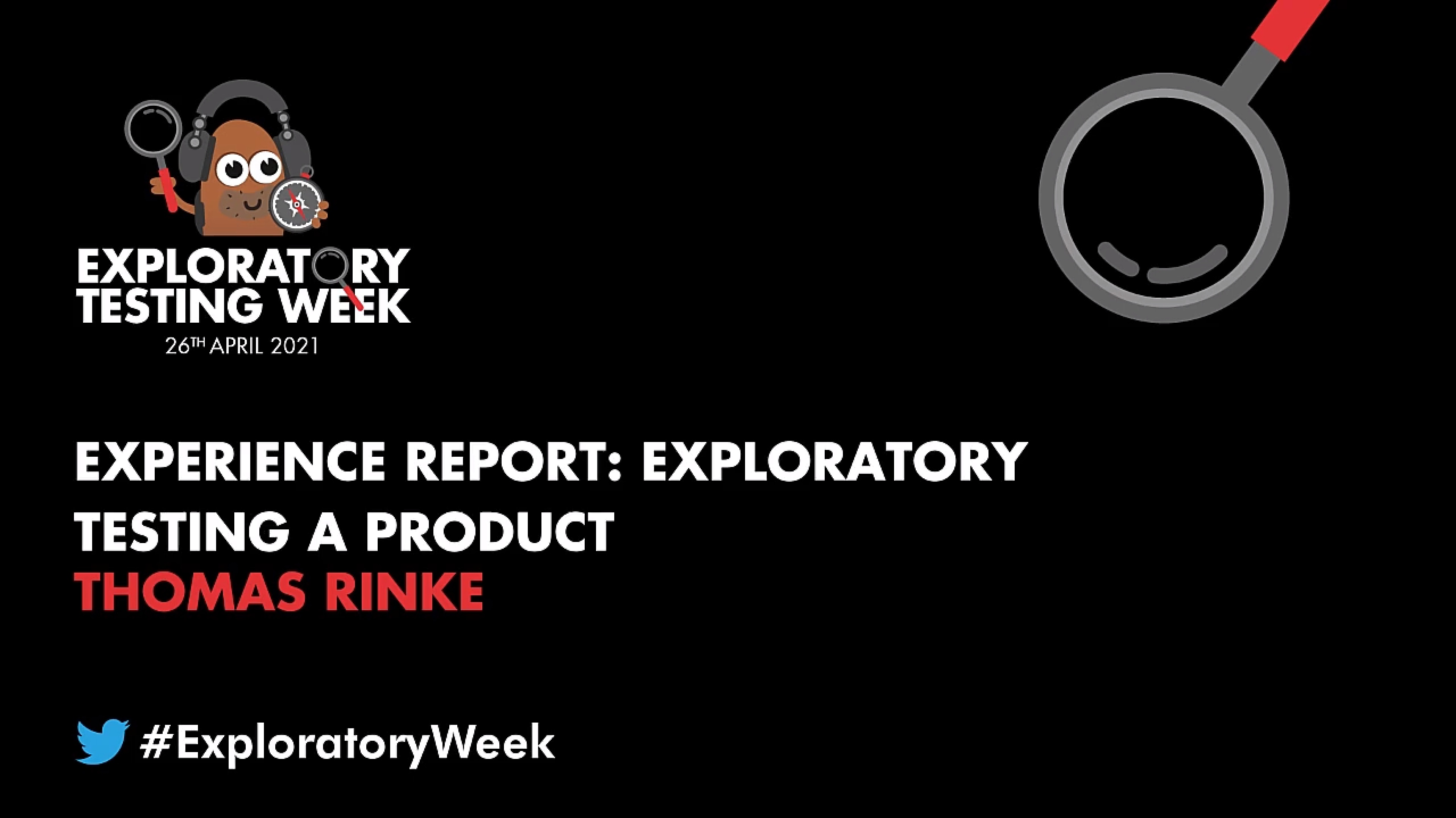 Experience Report: Exploratory Testing a Product with Thomas Rinke