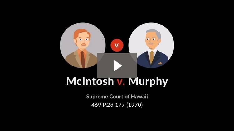 McIntosh v. Murphy