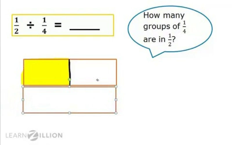 Use Models For Division Of Fractions By Fractions Learnzillion