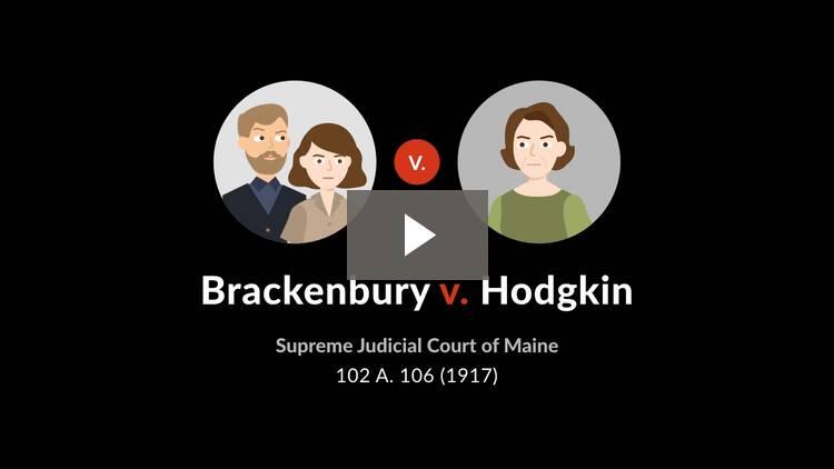Brackenbury v. Hodgkin