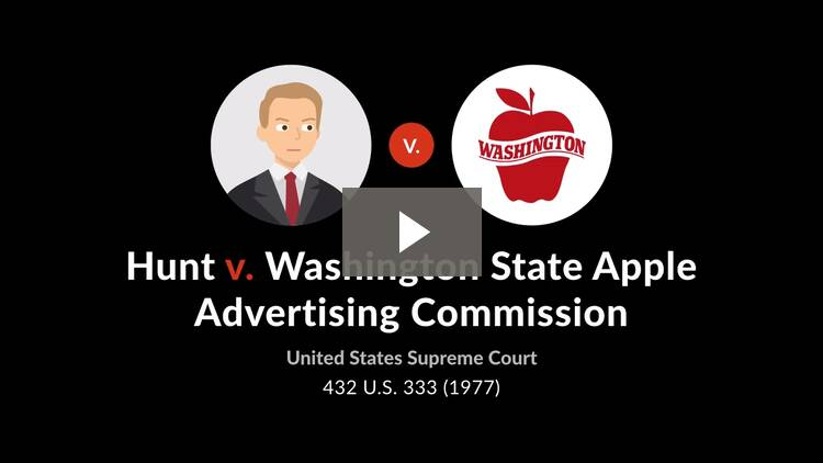 Hunt, Governor of the State of North Carolina v. Washington State Apple Advertising Commn.