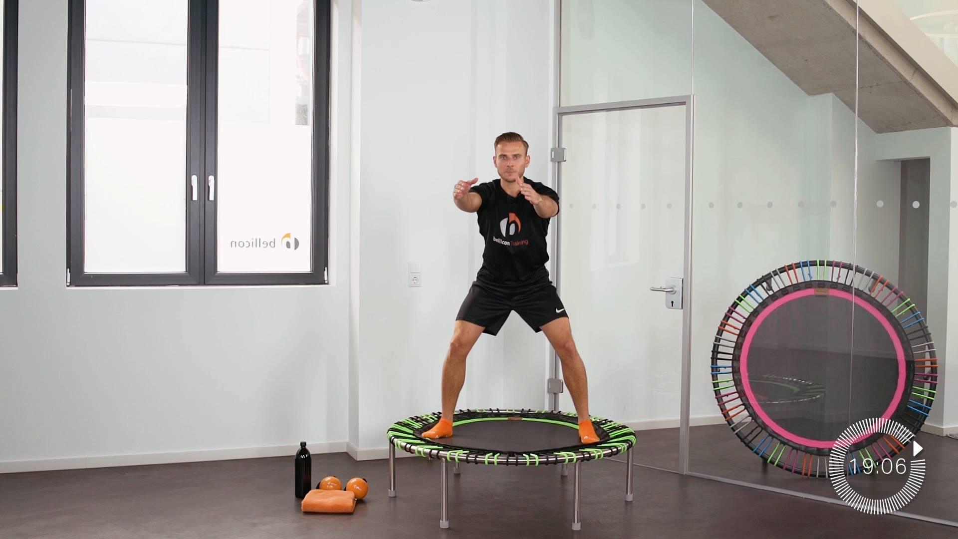 Abnehmen für Einsteiger 8 | Mini Trampolin Training Video | bellicon ...