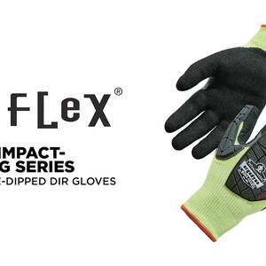 Ergodyne Product Video - ProFlex<sup>®</sup> 7141-CASE Hi-Vis Nitrile-Coated Cut-Resistant Gloves - ANSI A4 Level, WSX™ Wet Grip w/ DIR