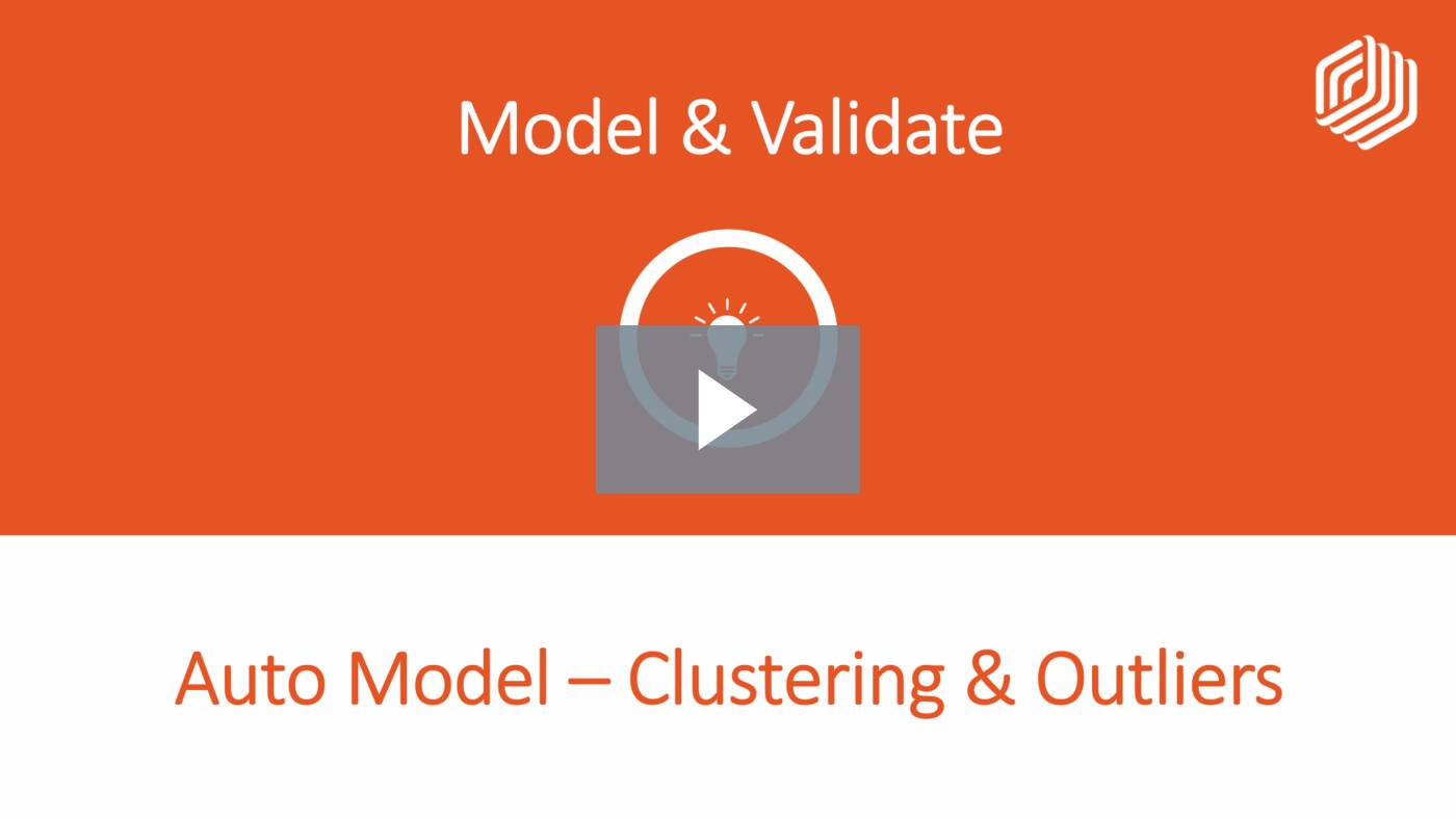Auto Model - Clustering & Outliers
