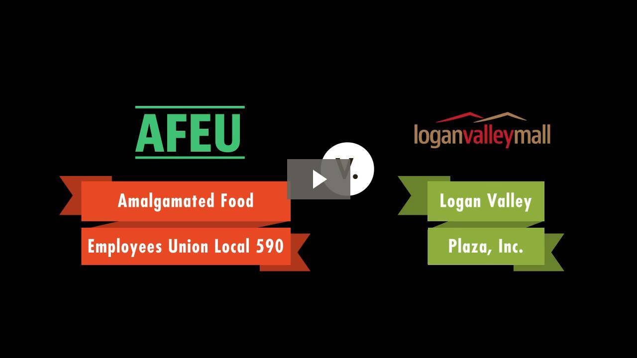 Amalgamated Food Employees Union Local 590 v. Logan Valley Plaza, Inc.