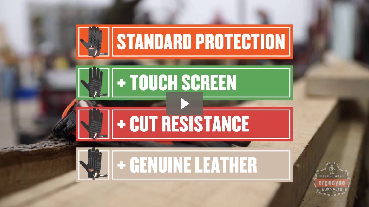 Ergodyne Product Video - ProFlex<sup>®</sup> 812CR6 Utility + Cut Resistance Gloves