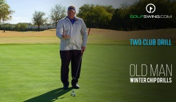Winter Chipping Drills: 2 Club Drill - Backswing