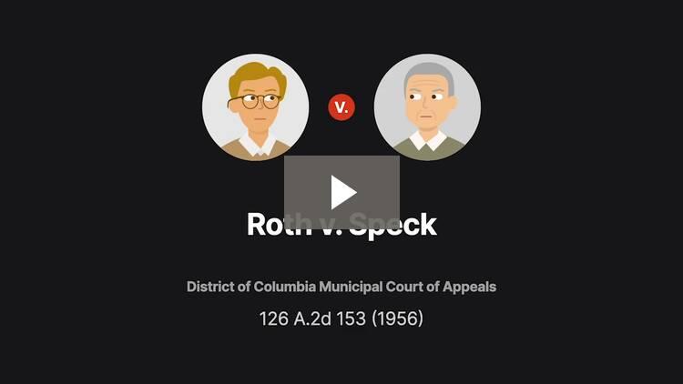 Roth v. Speck
