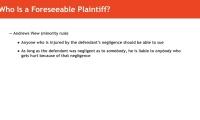 Duty to Foreseeable Plaintiffs thumbnail