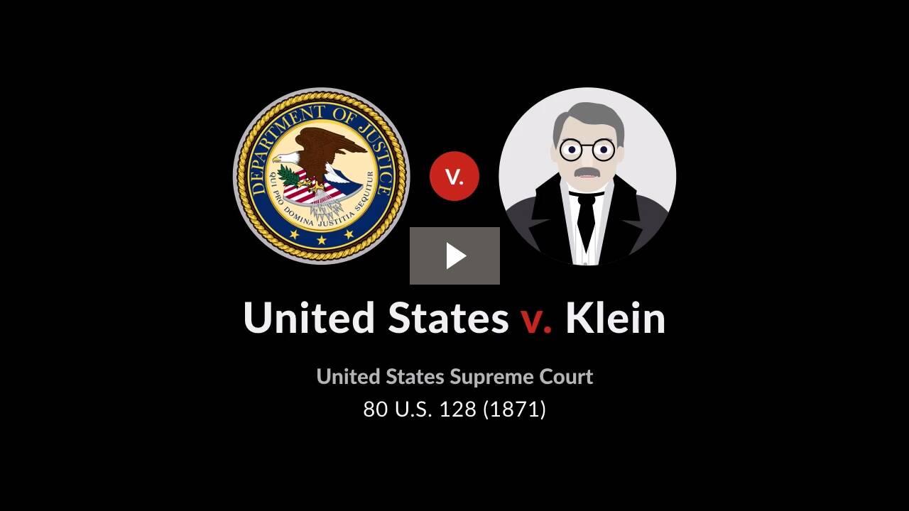 United States v. Klein