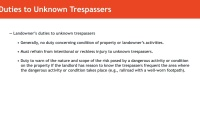 Duties of Landowners to Trespassers, Licensees, and Invitees thumbnail