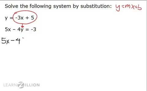 solve systems of equations using substitution learnzillion