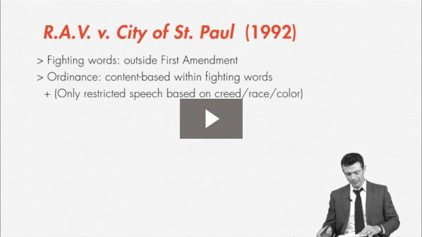 The Exception's Exception: <i>R.A.V. v. City of St. Paul</i>