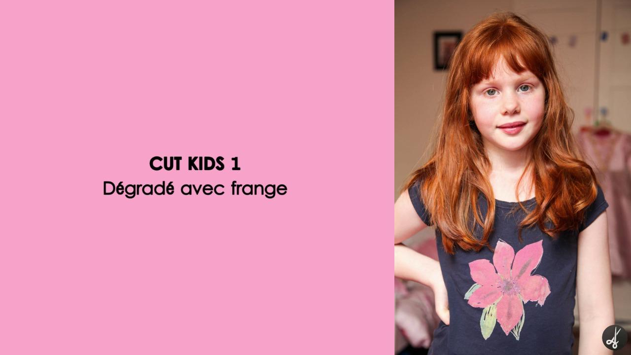CUT KIDS 1 : Dégradé avec frange