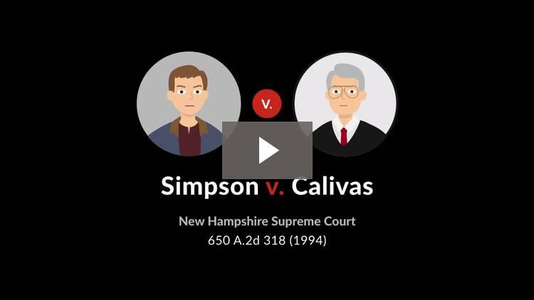 Simpson v. Calivas