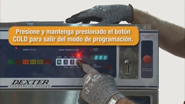 Programación de precio de la lavadora de monedas WCAD de Dexter