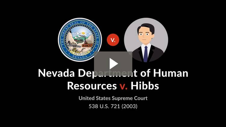 Nevada Department of Human Resources v. Hibbs