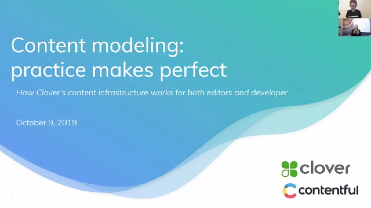 [2019-10-09] Content modeling: practice makes perfect