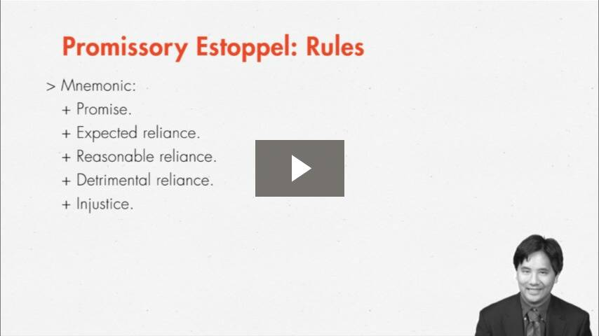 Promissory Estoppel as Consideration Substitute