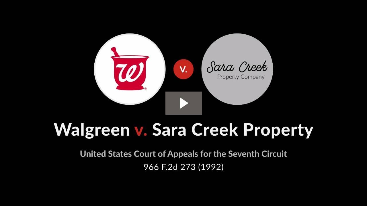Walgreen Co. v. Sara Creek Property Co.