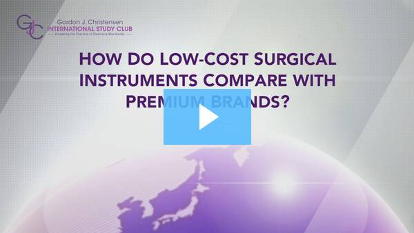 Q190 How do low-cost surgical instruments compare with premium brands?