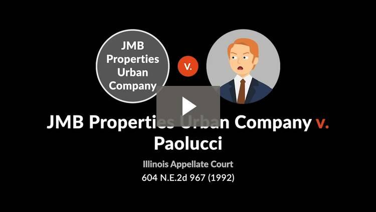 JMB Properties Urban Co. v. Paolucci