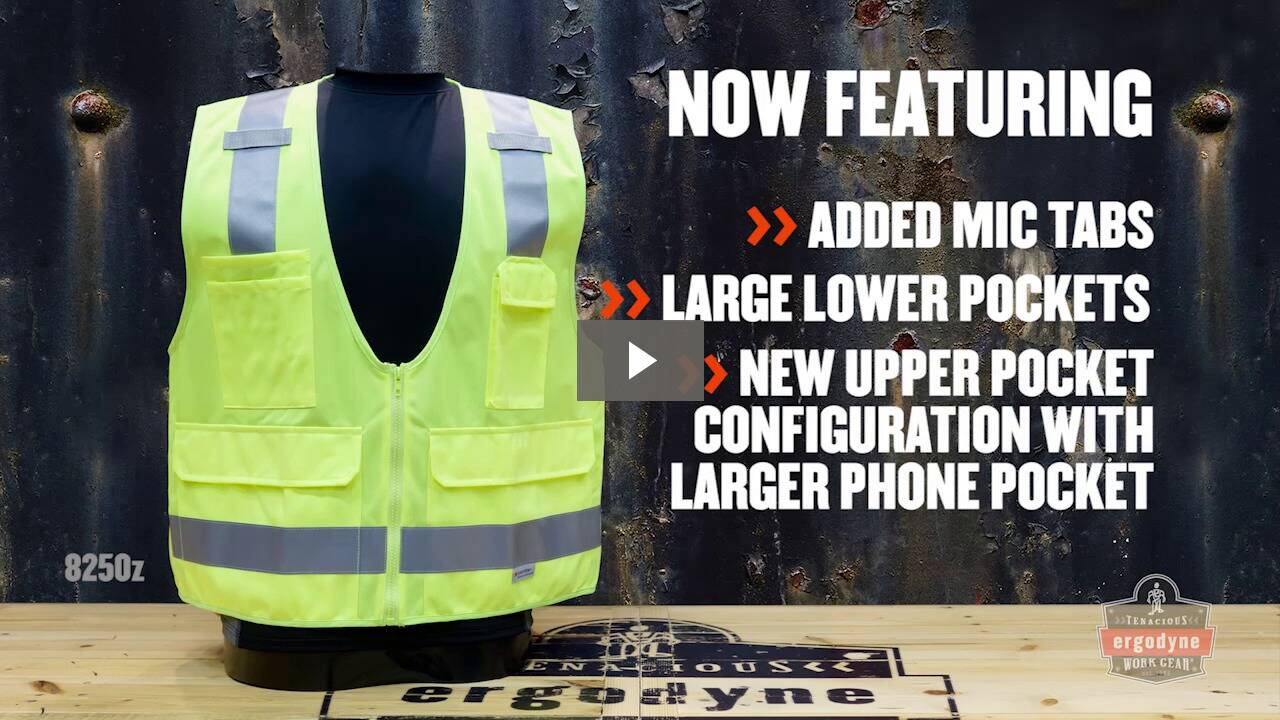 Ergodyne Product Video - GloWear<sup>®</sup> 8260FRHL Type R Class 2 FR Modacrylic Vest