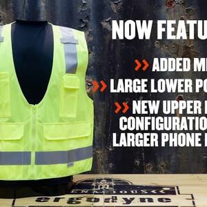 Ergodyne Product Video - GloWear<sup>®</sup> 8205Z Type R Class 2 Super Econo Mesh Vest