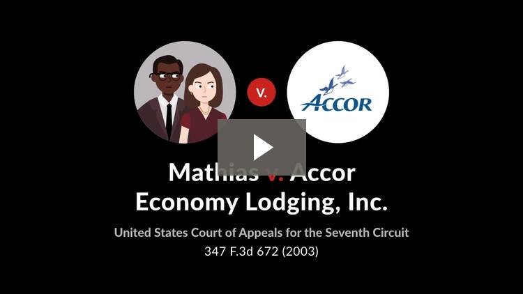 Mathias v. Accor Economy Lodging, Inc.