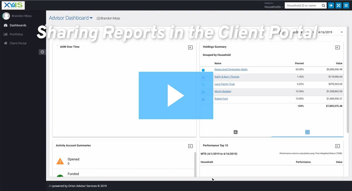 Making reports visible to clients in the client portal