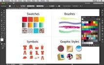 Como funcionam os Painés de Amostras no Illustrator?