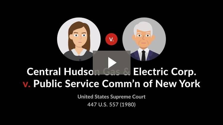 Central Hudson Gas & Electric Corp. v. Public Service Commn. of New York