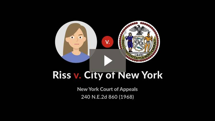 Riss v. City of New York