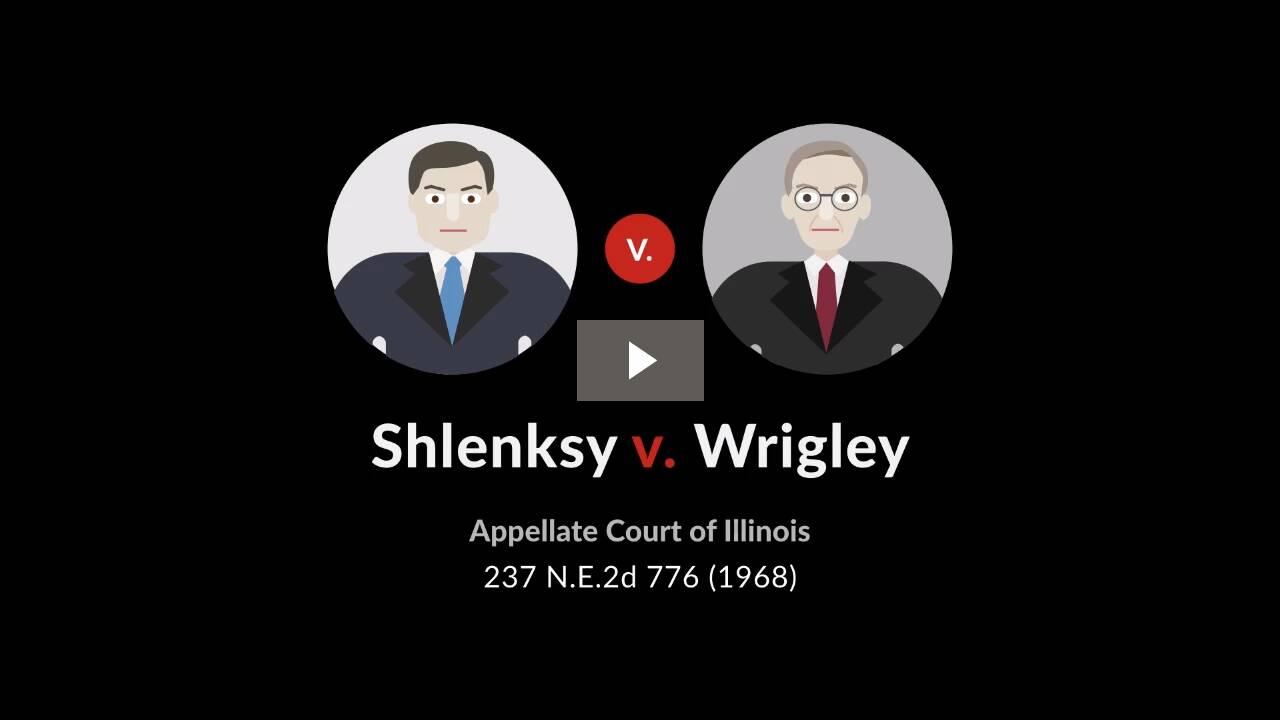 Shlensky v. Wrigley